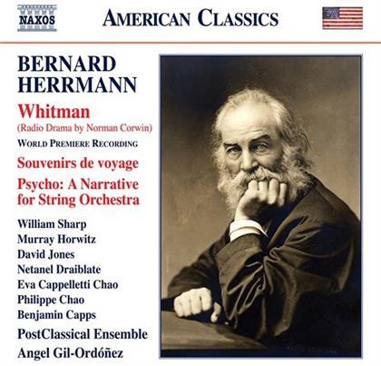 PostClassical Ensemble, Bernard Herrmann & Angel Gil-Ordoñez - Whitman, Souvenir de Voyage, Psycho: A Narrative - For String Orchestra