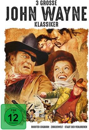 3 grosse John Wayne Klassiker - Rooster Cogburn / Zirkuswelt / Stadt der Verlorenen (3 DVD)