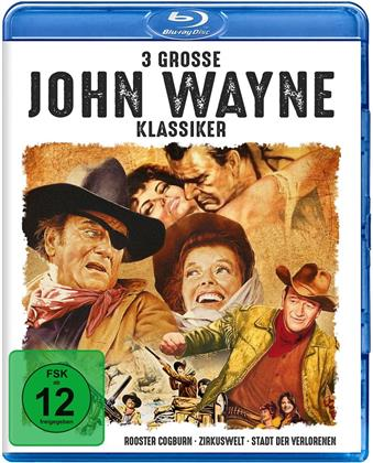 3 grosse John Wayne Klassiker - Rooster Cogburn / Zirkuswelt / Stadt der Verlorenen (3 Blu-ray)