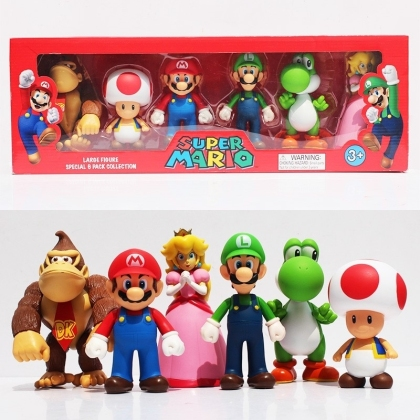 Super Mario - Figuren 6er Pack