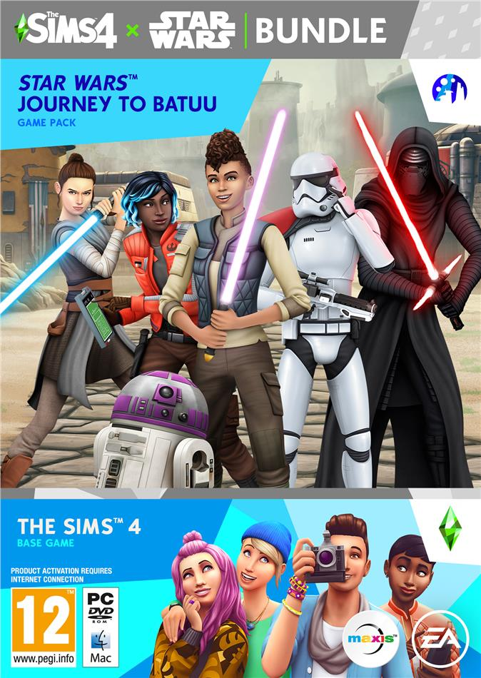 Die Sims 4 + Star Wars Journey to Batuu Bundle - (Code in a Box)