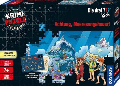 Die drei ??? Kids: Achtung, Meeresungeheuer! - 150 Teile Krimi-Puzzle