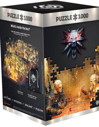 Witcher: Playing Gwent - 1000 Teile Puzzle