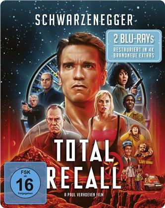 Total Recall (1990) (Edizione Limitata, Steelbook, Uncut, 2 Blu-ray)