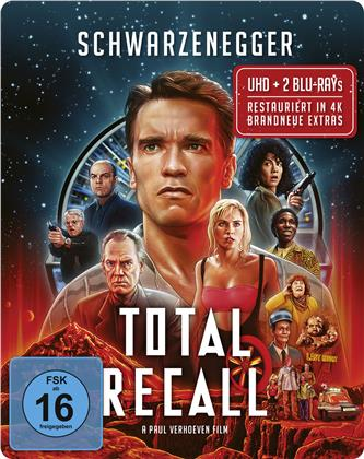 Total Recall (1990) (Limited Edition, Steelbook, Uncut, 4K Ultra HD + 2 Blu-rays)