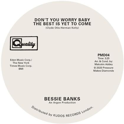 """Bessie Banks - Don't You Worry Baby.../ Try To Leave... (7"""" Single)"""
