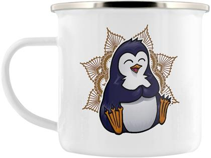 Psycho Penguin Namaste Away From Me Enamel Mug