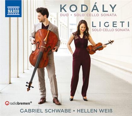 Zoltán Kodály (1882-1967), György Ligeti (1923-2006), Hellen Weiss & Gabriel Schwabe - Sonata For Cello Solo, Duo