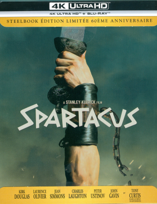 Spartacus (1960) (60th Anniversary Edition, Limited Edition, Restaurierte Fassung, Steelbook, 4K Ultra HD + Blu-ray)