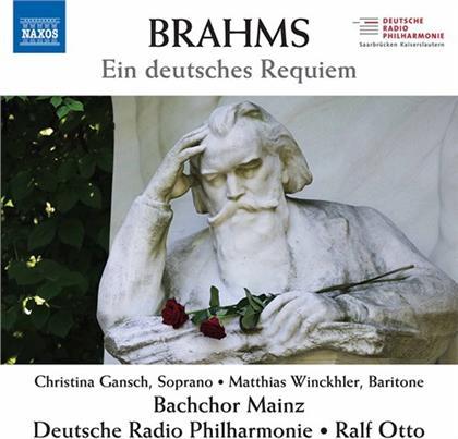 Johannes Brahms (1833-1897), Ralf Otto, Christina Gansch, Matthias Winckhler, Deutsche Radio Philharmonie, … - Ein Deutsches Requiem