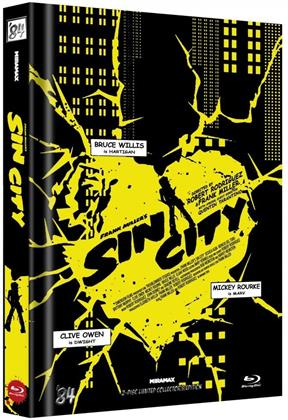 Sin City (2005) (Cover D, Kinofassung & Recut-Version, Limited Collector's Edition, Mediabook, 2 Blu-rays)