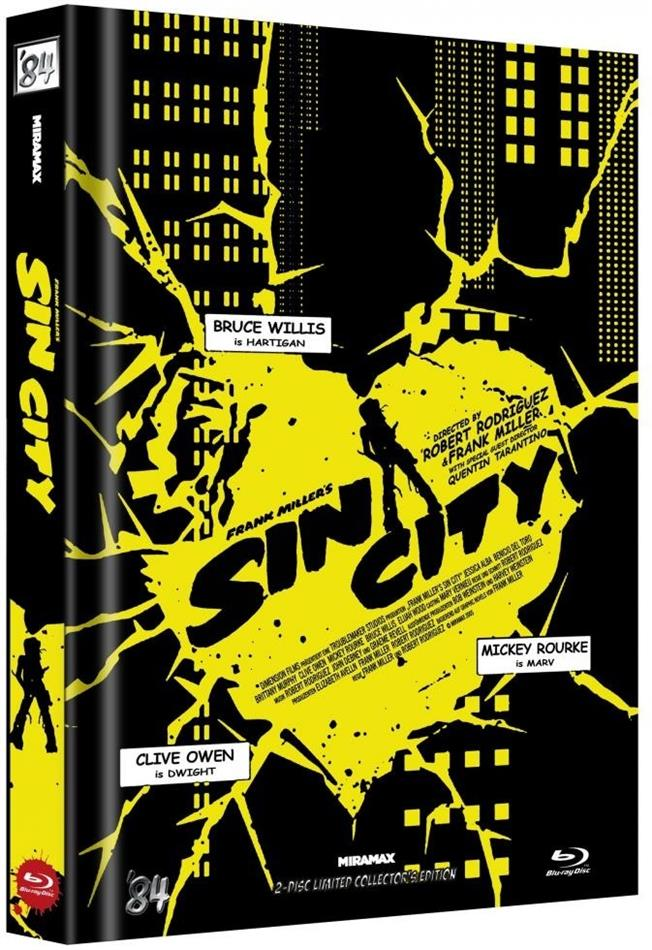 Sin City (2005) (Cover D, Limited Collector's Edition, Mediabook, 2 Blu-rays)