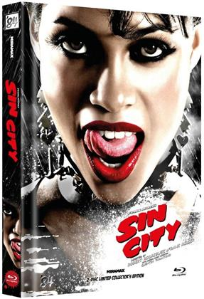 Sin City (2005) (Cover E, Limited Collector's Edition, Mediabook, 2 Blu-rays)