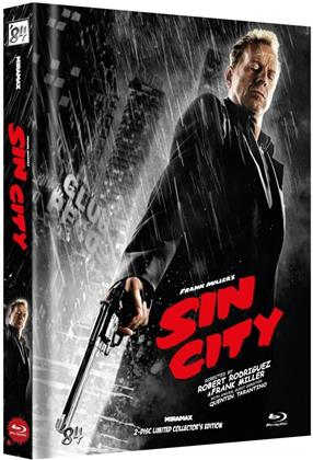 Sin City (2005) (Cover F, Recut, Kinoversion, Limited Collector's Edition, Mediabook, 2 Blu-rays)