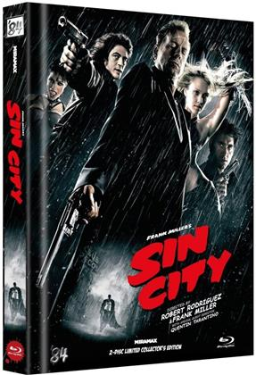 Sin City (2005) (Cover G, Kinofassung & Recut-Version, Limited Collector's Edition, Mediabook, 2 Blu-rays)