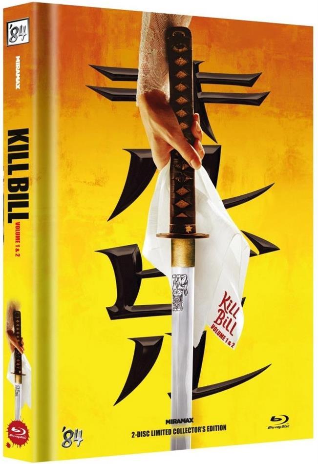 Kill Bill - Vol. 1 & 2 (Cover A, Limited Collector's Edition, Mediabook, 2 Blu-rays)