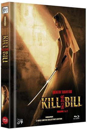 Kill Bill - Vol. 1 & 2 (Cover B, Limited Collector's Edition, Mediabook, Uncut, 2 Blu-rays)