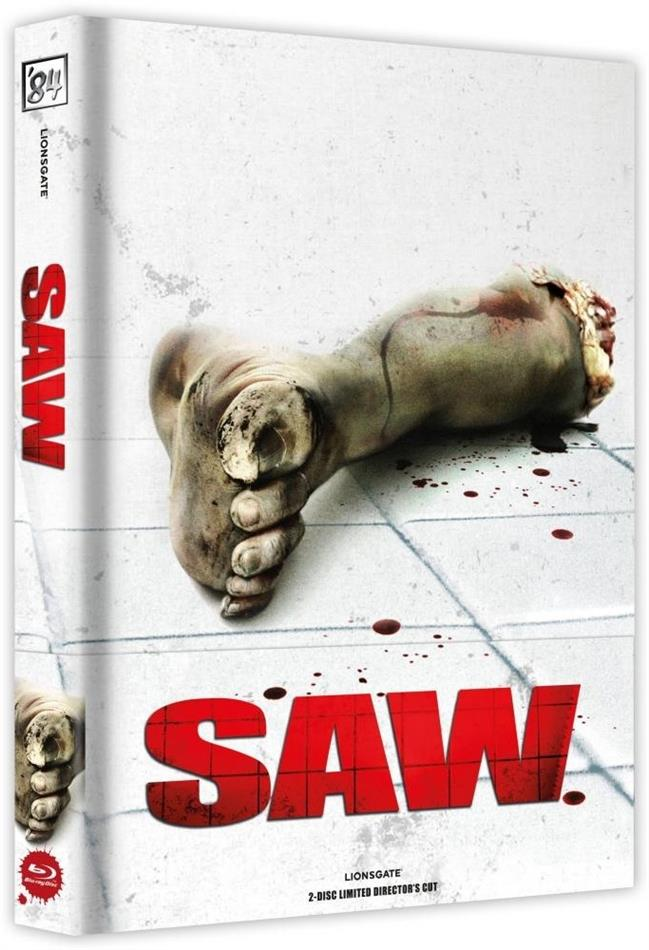 Saw (2004) (Cover A, Director's Cut, Limited Edition, Mediabook, Blu-ray + DVD)