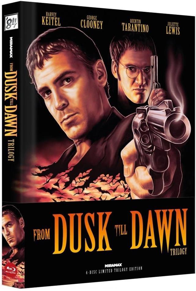 From Dusk Till Dawn - Trilogy (Cover A, Wattiert, Limited Edition, Mediabook, Uncut, 4 Blu-rays)