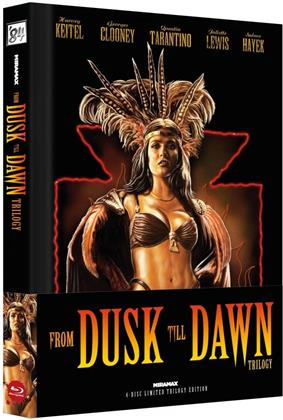 From Dusk Till Dawn - Trilogy (Cover B, Wattiert, Edizione Limitata, Mediabook, 4 Blu-ray)