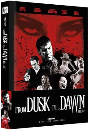From Dusk Till Dawn - Trilogy (Cover C, Wattiert, Edizione Limitata, Mediabook, Uncut, 4 Blu-ray)