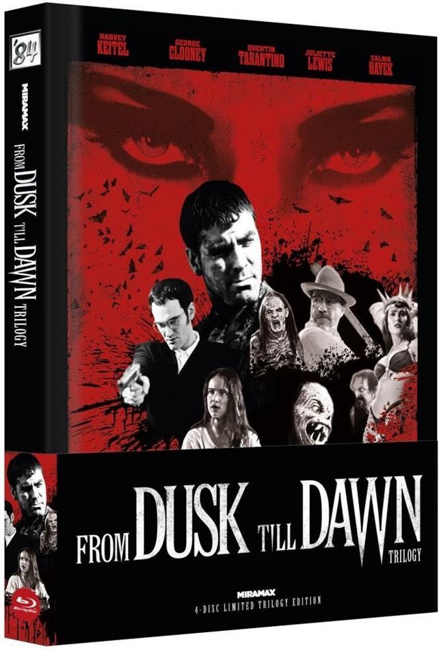 From Dusk Till Dawn - Trilogy (Cover C, Wattiert, Limited Edition, Mediabook, Uncut, 4 Blu-rays)