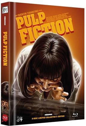 Pulp Fiction (1994) (Limited Collector's Edition, Mediabook, Uncut, Blu-ray + DVD)