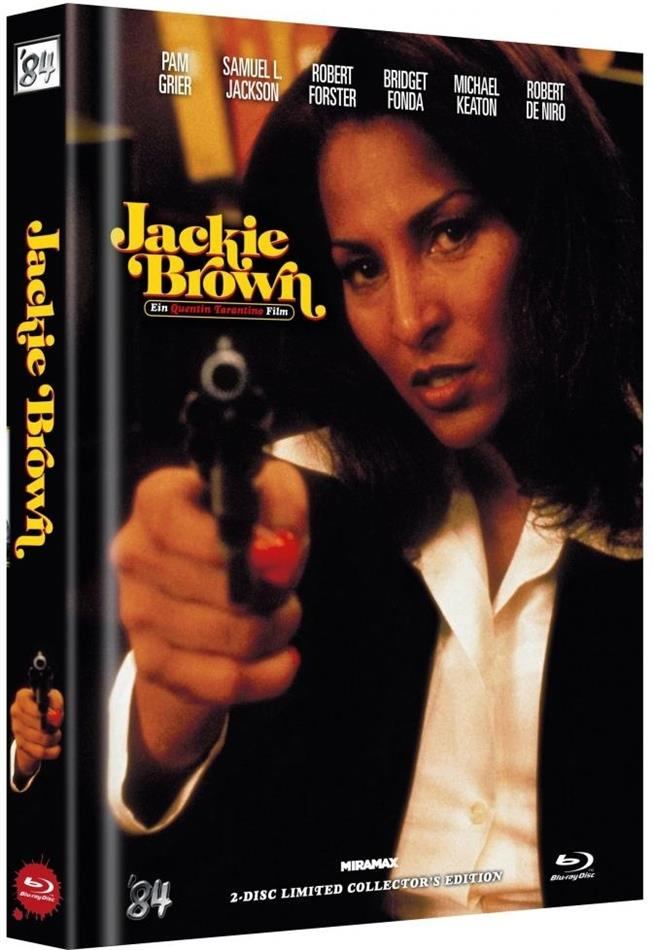 Jackie Brown (1997) (Cover B, Limited Collector's Edition, Mediabook, Uncut, Blu-ray + DVD)