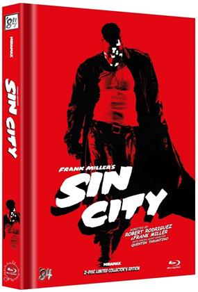 Sin City (2005) (Cover B, Limited Collector's Edition, Mediabook, 2 Blu-rays)