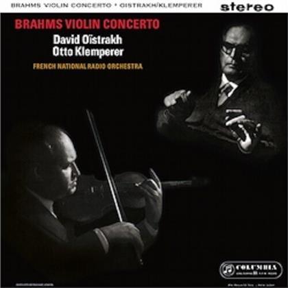 Johannes Brahms (1833-1897), Otto Klemperer, David Oistrakh & French National Radio Orchestra - Violin Concerto (LP)