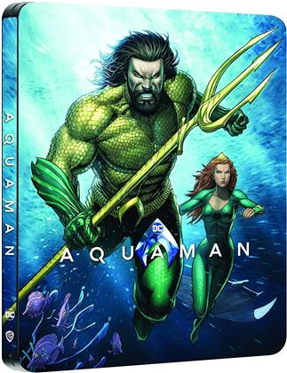 Aquaman (2018) (Comic Cover, Edizione Limitata, Steelbook, 4K Ultra HD + Blu-ray)