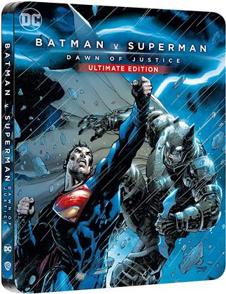 Batman v Superman - L'Aube de la Justice (2016) (Comic Cover, Limited Edition, Steelbook, 4K Ultra HD + Blu-ray)