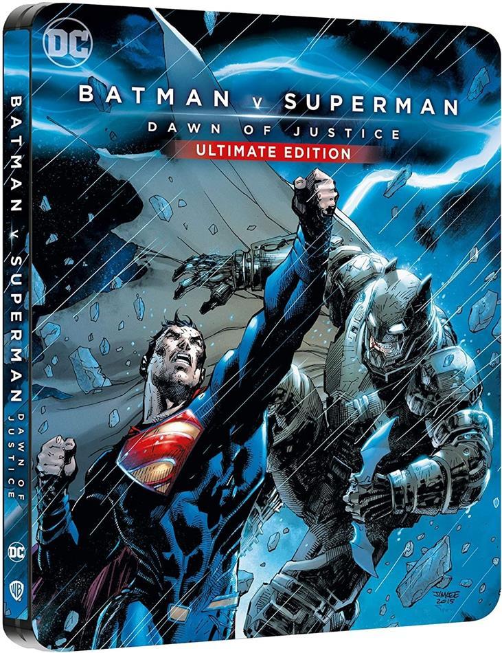 Batman v Superman - L'Aube de la Justice (2016) (Comic Cover, Limited Edition, Steelbook, Ultimate Edition, 4K Ultra HD + Blu-ray)