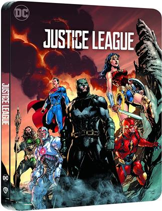 Justice League (2017) (Comic Cover, Limited Edition, Steelbook, 4K Ultra HD + Blu-ray)