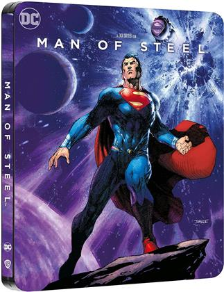 Man of Steel (2013) (Comic Cover, Limited Edition, Steelbook, 4K Ultra HD + Blu-ray)