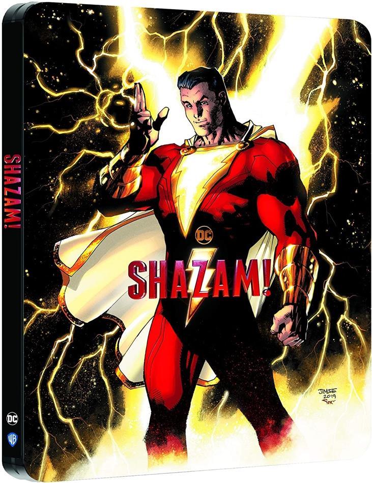 Shazam! (2019) (Comic Cover, Limited Edition, Steelbook, 4K Ultra HD + Blu-ray)