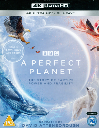 A Perfect Planet - The Story of Earth's Power and Fragility (BBC Earth, 2 4K Ultra HDs + 2 Blu-ray)