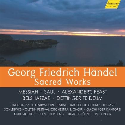 Georg Friedrich Händel (1685-1759), Karl Richter, Helmuth Rilling, Ulrich Stötzel, Rolf Beck, … - Sacred Works (10 CDs + DVD)