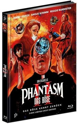 Phantasm 2 - Das Böse 2 (1988) (Cover A, Extended Edition, Limited Edition, Mediabook, Uncut, Blu-ray + 2 DVDs)