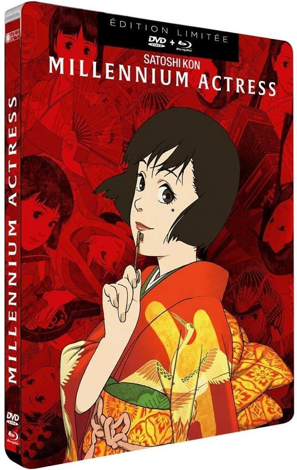 Millennium Actress (2001) (Limited Edition, Steelbook, Blu-ray + DVD)
