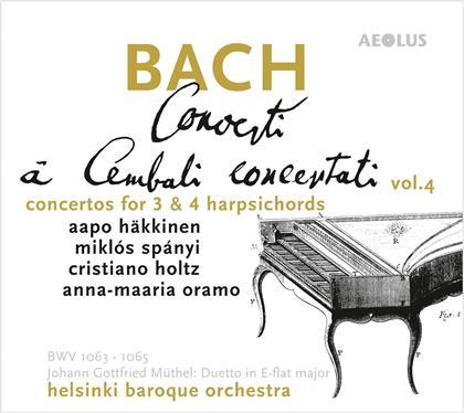 Helsinki Baroque Orchestra, Johann Sebastian Bach (1685-1750), Johann Gottfried Müthel (1728-1788), Aapo Häkkinen, Mikos Spanyi, … - Concerti A Cembali Concertanti Vol. 4 - Concertos For 3 & 4 Harpsichords (Hybrid SACD)