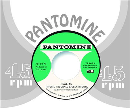 "Ritchie McDonald, Glen Brown & Tommy McCook - Realize / Determination Skank (7"" Single)"