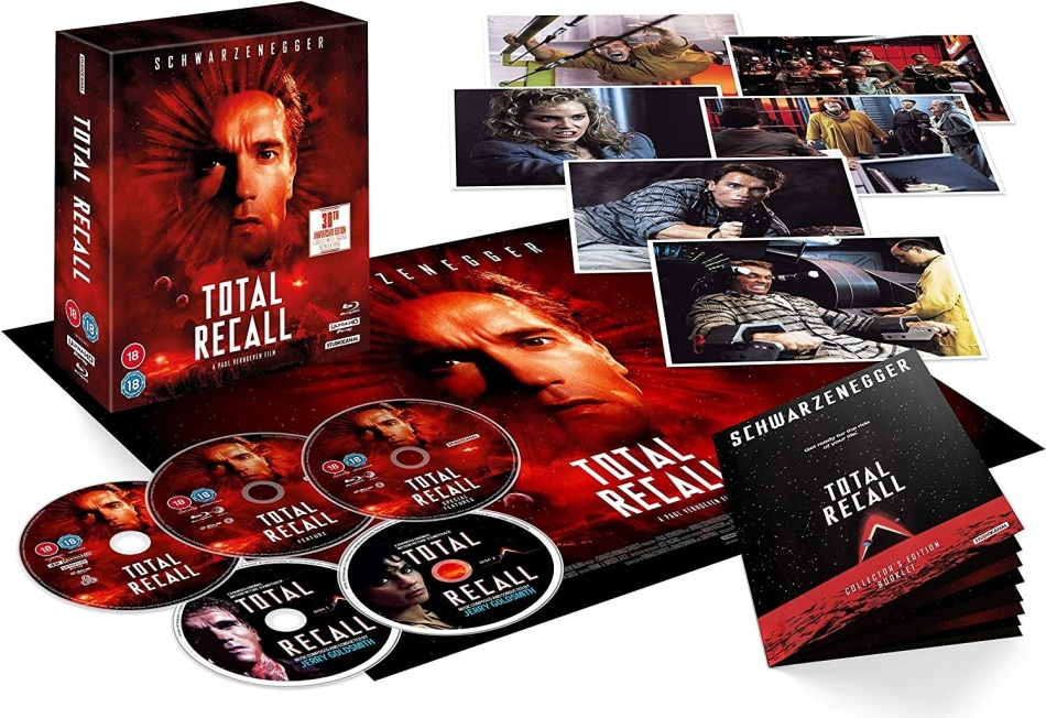 Total Recall (1990) (30th Anniversary Edition, Collector's Edition, 4K Ultra HD + 2 Blu-rays + 2 CDs)