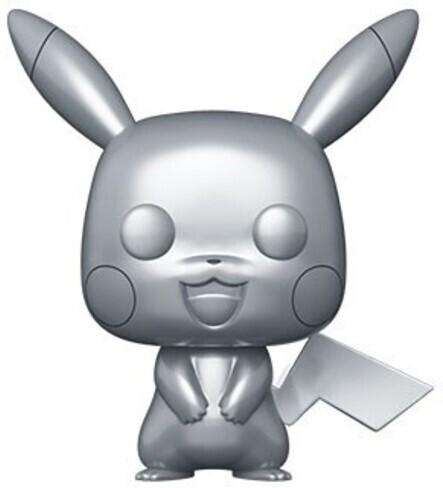 Funko Pop! Games - Pokemon: Pikachu (Silver Metallic)