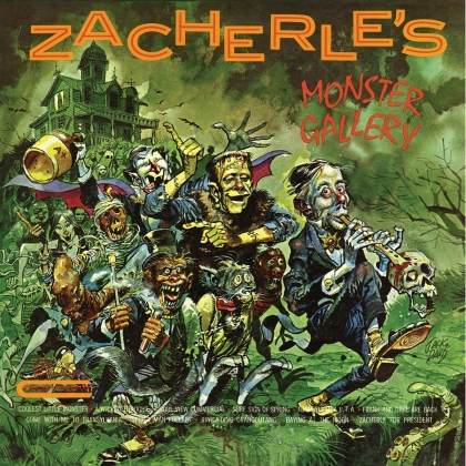 John Zacherle - Zacherle's Monster Gallery (Clear With Pumpkin Splatter Vinyl, LP)