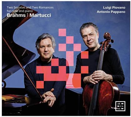 Johannes Brahms (1833-1897), Giuseppe Martucci (1856-1909), Luigi Piovano & Antonio Pappano - Two Sonatas and Two Romances