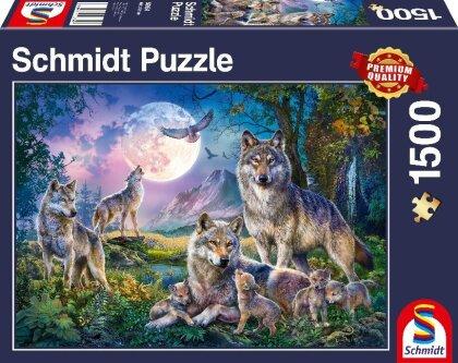 Wolfsfamilie - 1500 Teile Puzzle