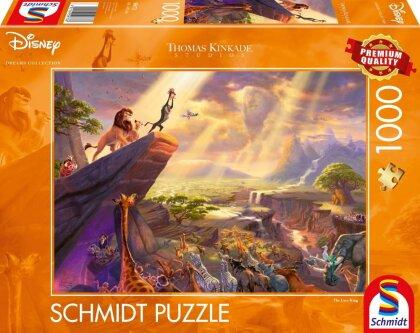 Thomas Kinkade: Disney König der Löwen - 1000 Teile Puzzle