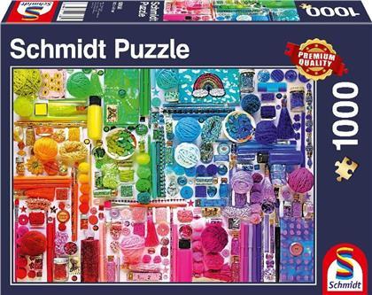 Regenbogenfarben - 1000 Teile Puzzle