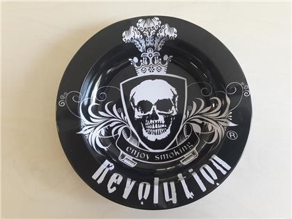 Metall Aschenbecher Revolution - Black